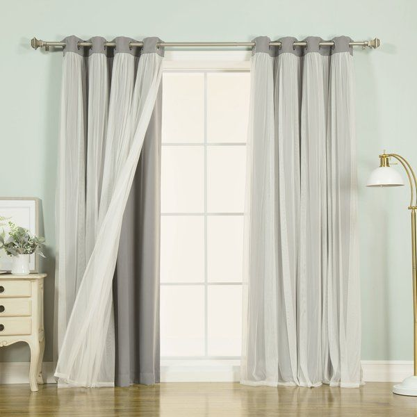 Brockham Solid Color Room Darkening Grommet Curtain Panels Panel