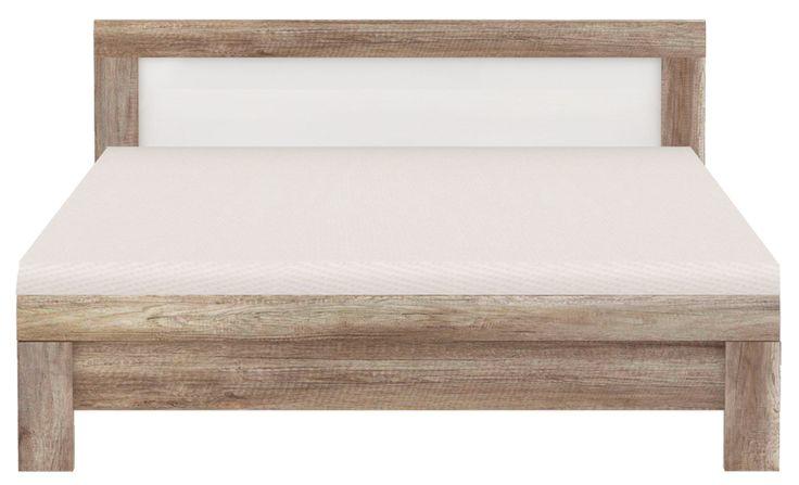 Bett Rosanna zeitlos schicke Eiche Antik in Kombination mit weissem Hochglanz passend zum Schlafzimmerprogramm Rosanna 1 x Bett Liegefläche 180 x 200 cm ohne Rahmen und Bettrost...