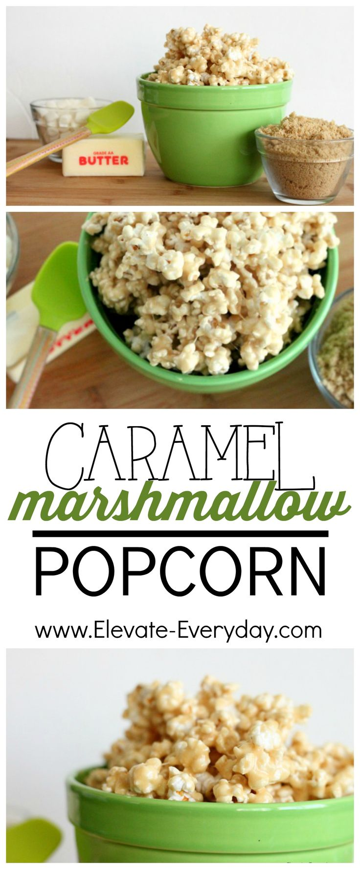 This Caramel Marshmallow Popcorn is seriously so easy and gooey and amazing.  Must make!