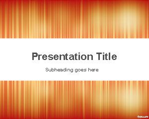 Abstract Noise PowerPoint template is an elegant orange PowerPoint template with lighting effect and vertical lines that you can download to make impressive presentations for businesses and other PowerPoint presentations