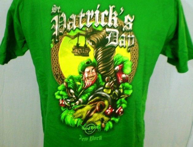 22a35b356 Hard Rock Cafe Green Large T-Shirt New York St. Patrick's Day 2015 Cotton  #HardRockCafe #GraphicTee
