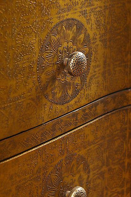 Hand-Embossed Five-Drawer Dresser - anthropologie.com