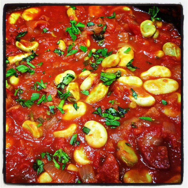 Broad Bean & Chorizo