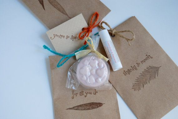 Cute Favor Set Small Spa Gift Set Soap / by HelloNaturalShop