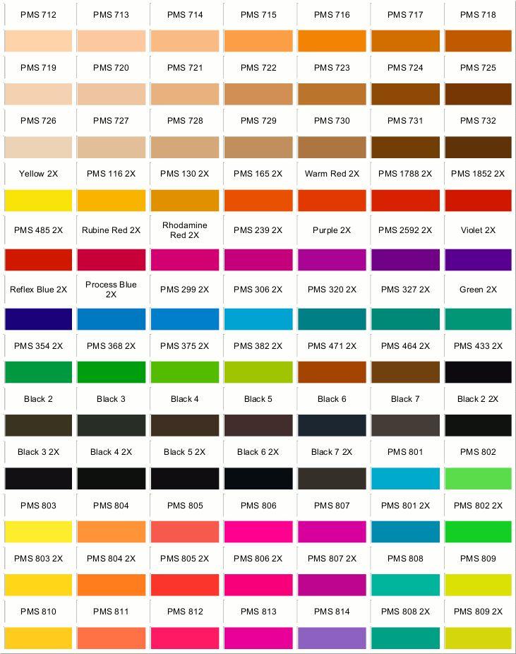 Pantone Color Reference Chart - Seebyseeing/pantone-color ...