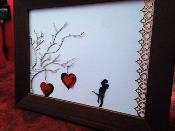 #lasercut #valentines #gift #Personalized valentines gift Frame Laser Cut Gift by DreamADesign