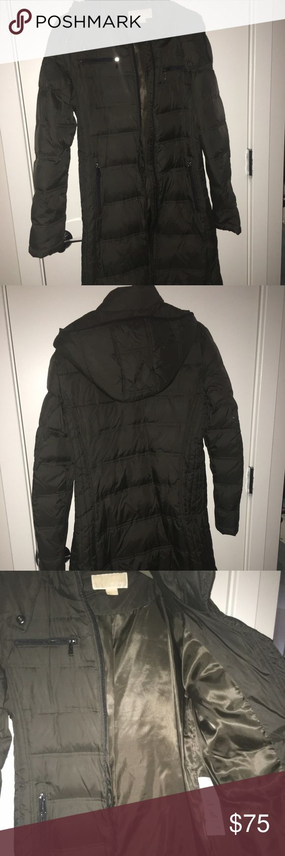 Michael Kors quilted coat. Hunter green Michael Kors quilted jacket. Worn under five times and in great condition. MICHAEL Michael Kors Jackets & Coats Puffers