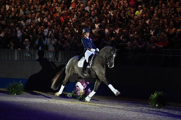 Charlotte and Valegro during his retirement ceremony