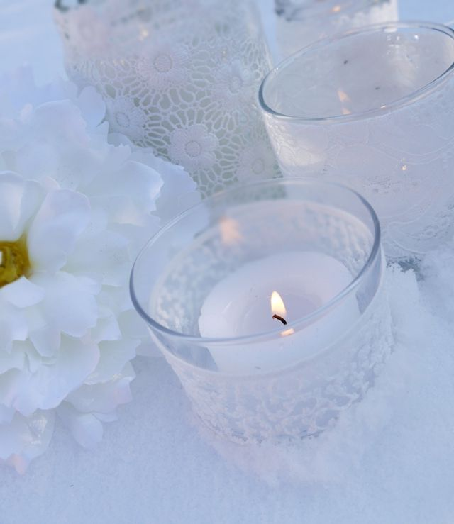 Tutorial: DIY Lace Candle Holders | GigMasters: the life of the party blog