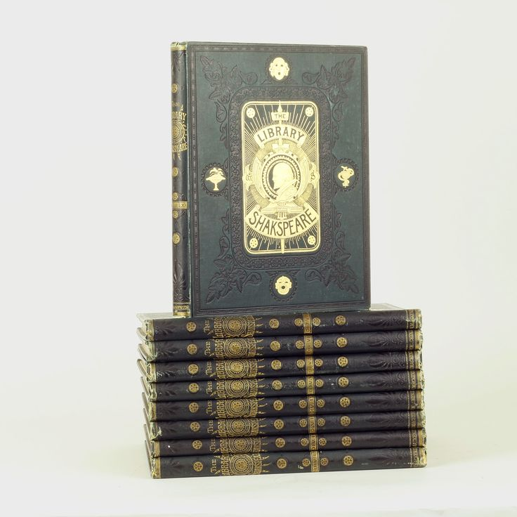 The Library of Shakespeare, Illustrated by Jon Gilbert, George Cruikshank and R. Dudley, Nine Volumes