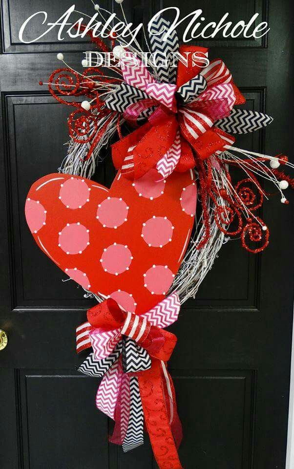 2c8b163ae43f8882c71bb6c367207a59 diy valentines day wreath grapevine wreath - ♡ Wreath