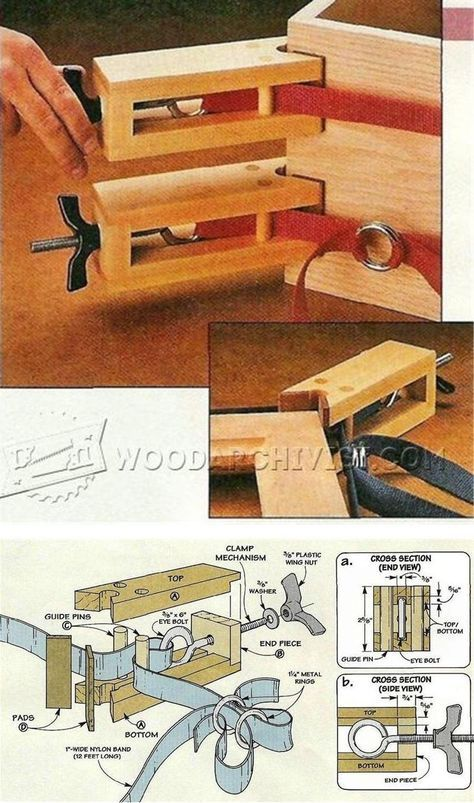 DIY Band Clamp - Clamp and Clamping Tips, Jigs and Fixtures   WoodArchivist.com