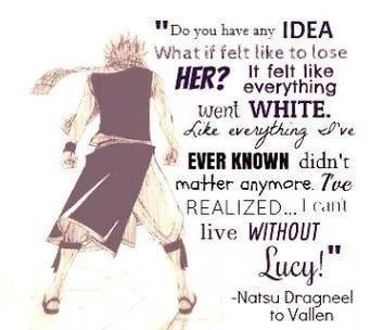 Natsu T-T (Wait...he actually says this? O.O):<<-- good bye world! My life goal has been achieved!!...unlike ichiruki