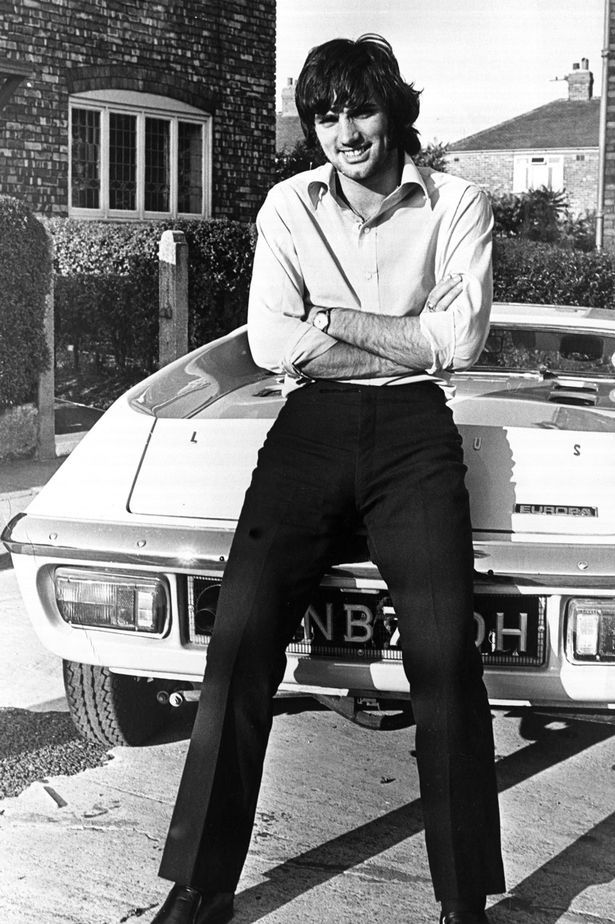 October 17 1969: George Best shows off his new Lotus Europa