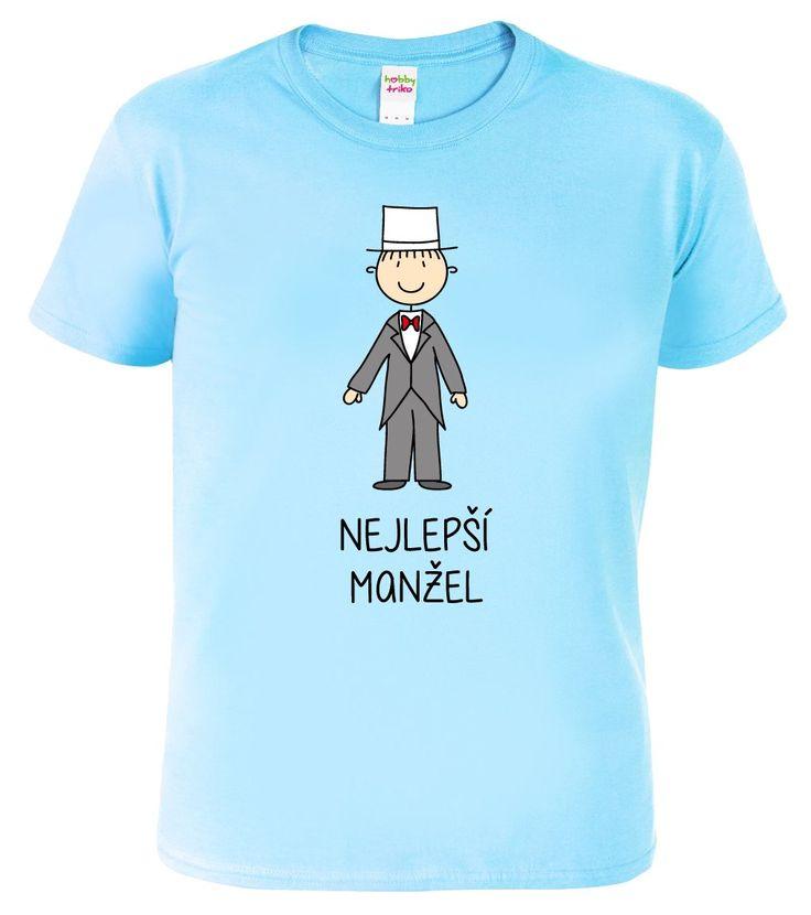 """Svatební dárek pro nejlepší manžely. Darujte originální, vtipné svatební tričko. Tričko pro nevěstu ve stejném designu naleznete v sekci """"související zboží"""
