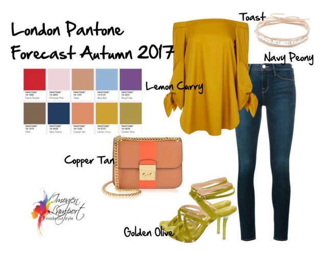 London Pantone 2017 Lemon Curry by imogenl on Polyvore featuring polyvore fashion style TIBI Frame Donna Karan MICHAEL Michael Kors Amber Sceats clothing