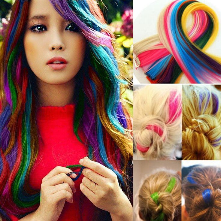Colorful Straight Hair Highlights Mix Very Beautiful !!!!! I like