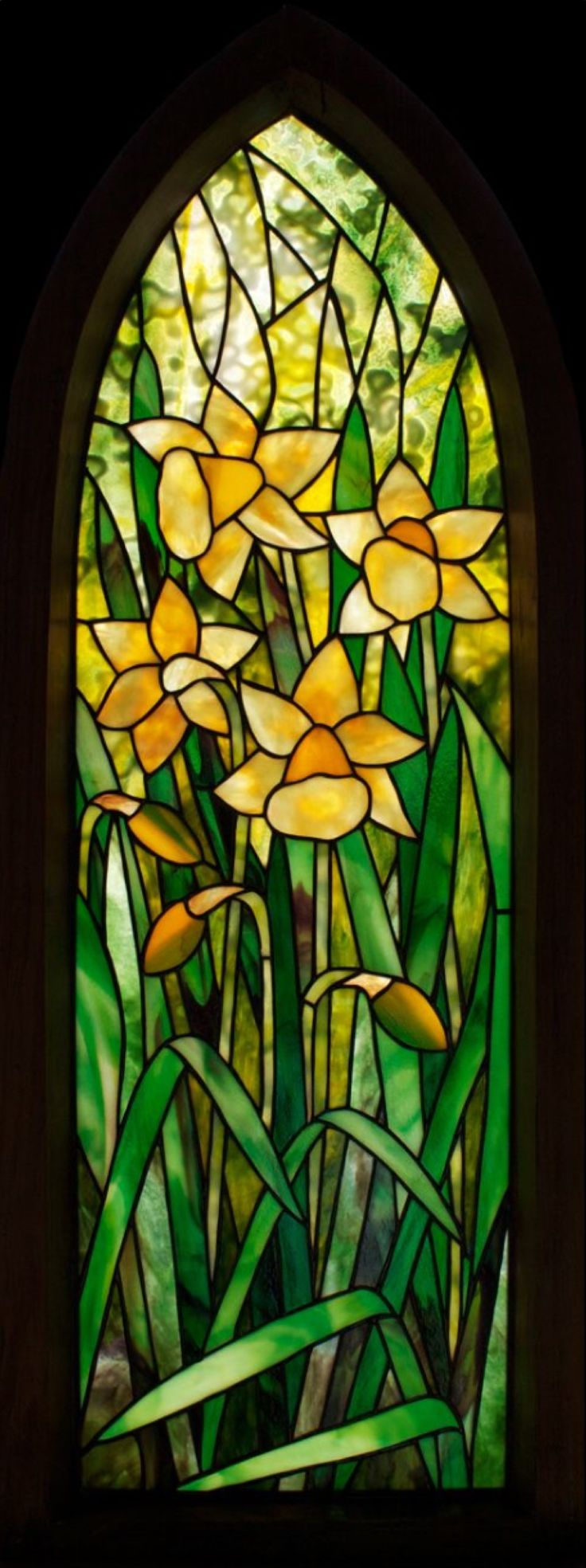 I Always Wanted To Design A Daffodil Stained Glass Window