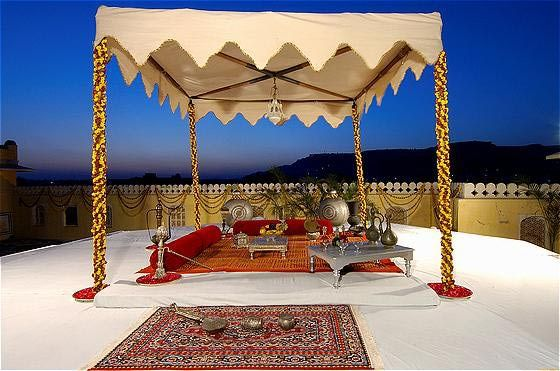 The Royal Pavilion Suite at the Raj Palace Hotel, Jaipur