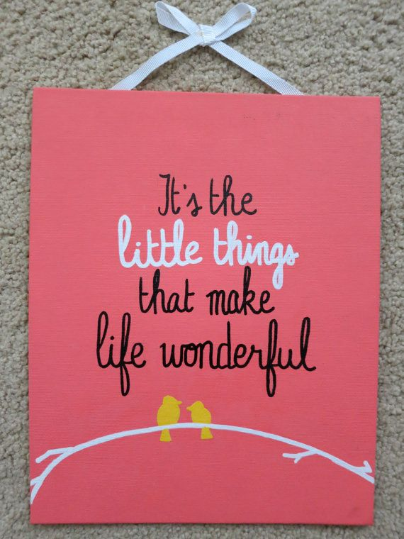 It's the Little Things 8x10 canvas by annielayer on Etsy, $18.00