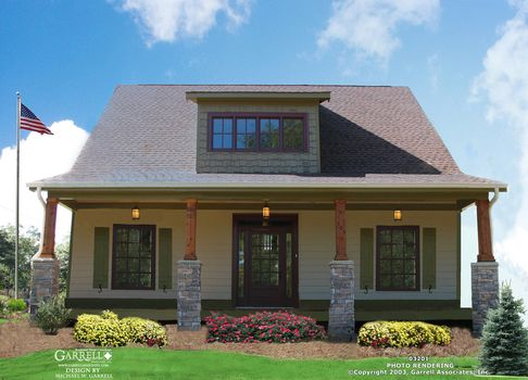 San Jose Bungalow A House Plan   House Plans by Garrell Associates, Inc