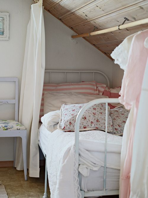 17 best images about attic rooms with sloped slanted for Attic loft bed