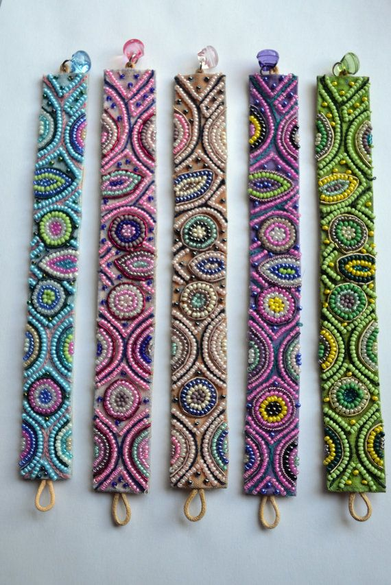 Seed bead woven bracelets Seed bead bracelet by LauriginalDesigns