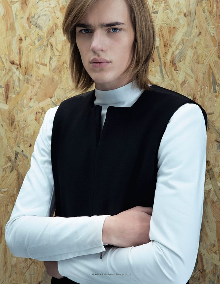 Ton Heukels at Elite captured by Raff Grosso and styled by Mariaelena Morelli for this Rad Hourani feature on Open Lab magazine.