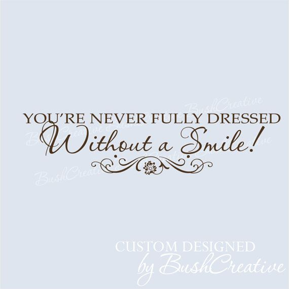 Without a Smile Inspirational Annie Quote Wall by bushcreative