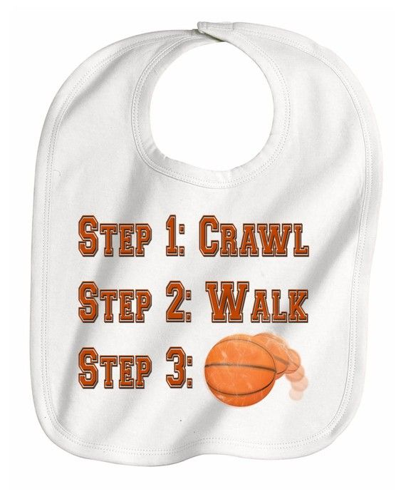 Steps crawl walk future pro Basketball Player by CustomTeesForTots, $9.00