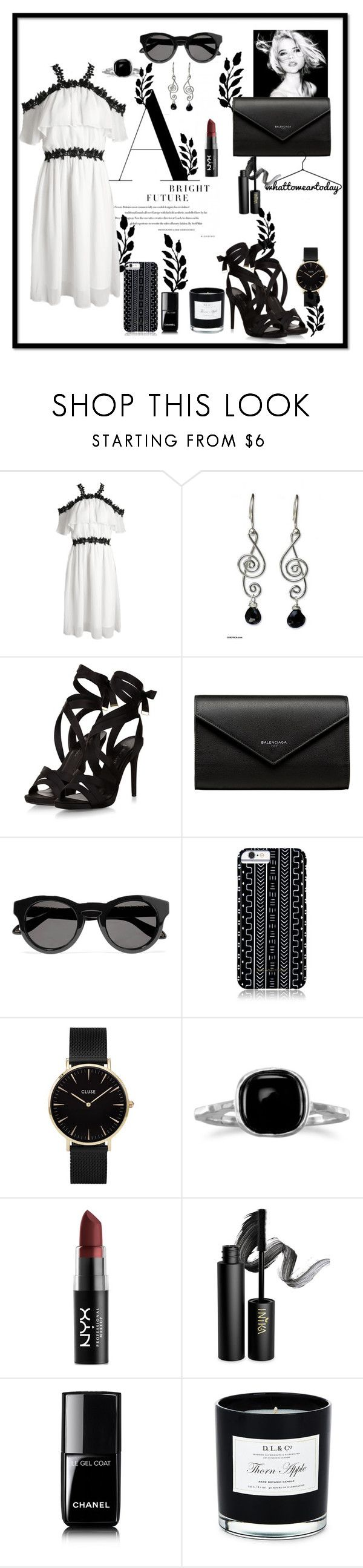 """""""Untitled #54"""" by thea0666 ❤ liked on Polyvore featuring NOVICA, Balenciaga, Givenchy, Savannah Hayes, CLUSE, BillyTheTree, NYX, INIKA, Chanel and D.L. & Co."""