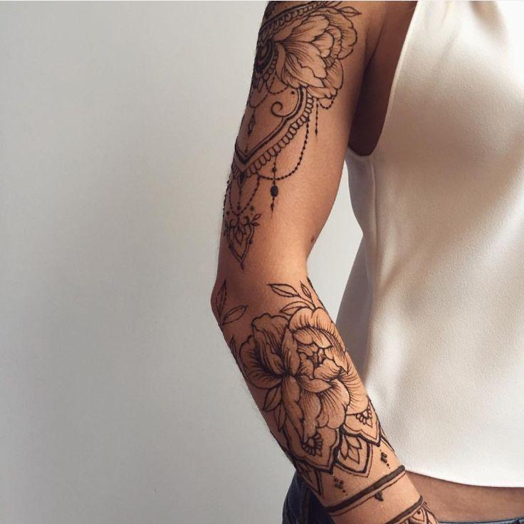 офигенно красивый рукав фото тату самозастывающую глину
