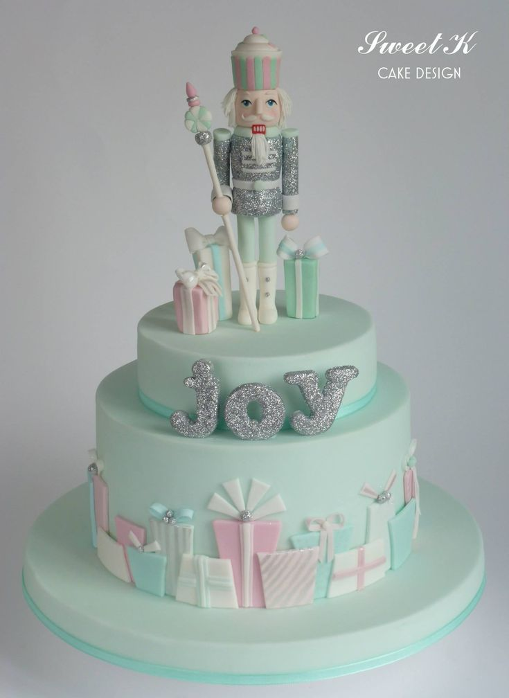 Pastel Color Nutcracker Cake For Christmas Christmas