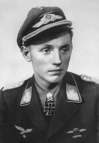 """Erich Alfred Hartmann (1922 – 1993), nicknamed """"Bubi"""" by his comrades and """"The Black Devil"""" by his Soviet adversaries, was a German fighter pilot during WW2 and is the highest-scoring fighter ace in the history of aerial warfare. He claimed 352 aerial victories—that is, 352 aerial combat encounters resulting in the destruction of the enemy aircraft—in 1,404 combat missions. Hartmann was never shot down and his Black Tulip design adorning his planes would, by itself, scare Soviet pilots away."""