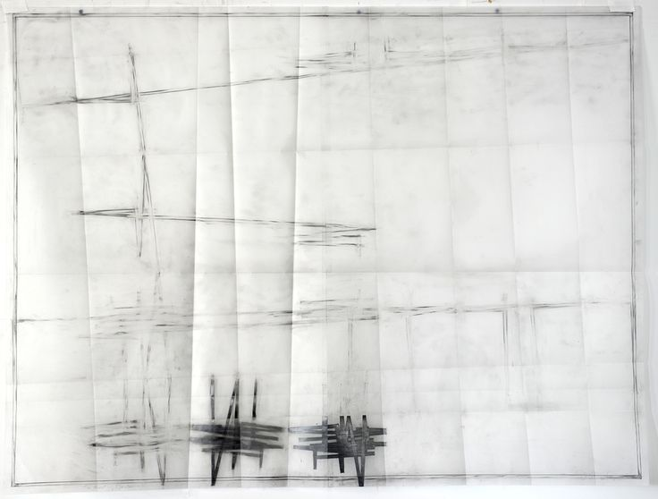 Jill Baroff - THE MEETING - 2014 - ink and graphite on vellum, 96 x 126 cm