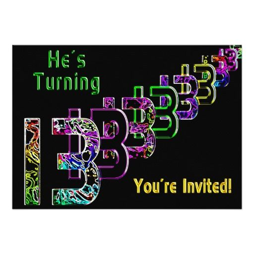 13th birthday teen invitation colorful - 13th Birthday Party Invitations