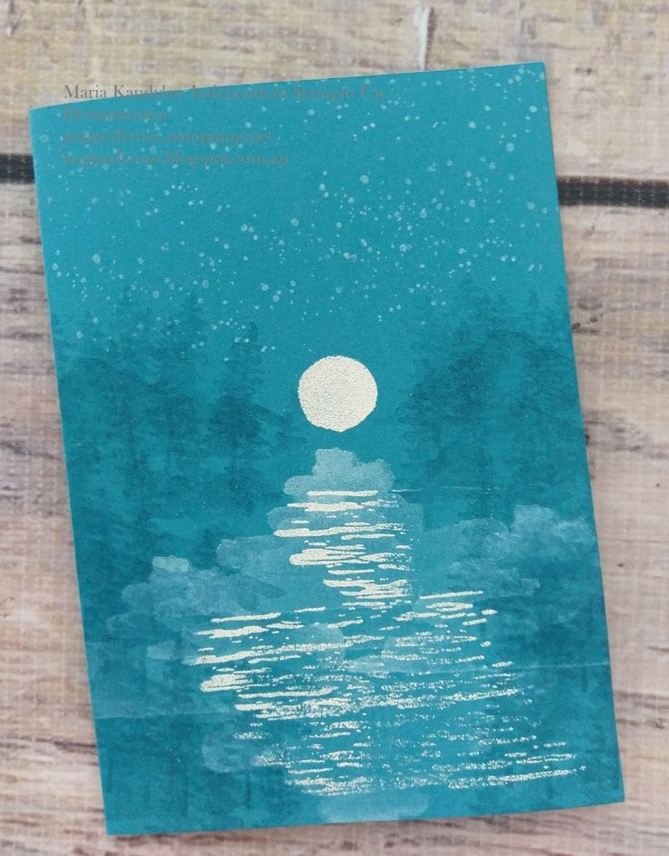 Hi everyone! Today I am sharing a night scene card made with Stampin Up!'s Waterfront and High Tide stamp sets. The Waterfront stamp set...