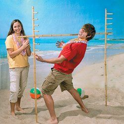 Bamboo Limbo Set with Base for Indoor or Outdoor Use - Listing price: $39.99 Now: $34.99 + Free Shipping