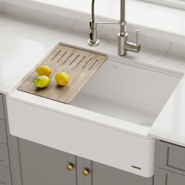 30 Farmhouse Sink For Apron Front Background