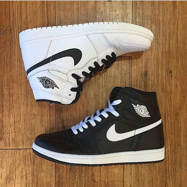 """WEBSTA @ sneakershouts - The Air Jordan 1 High Retro OG """"Yin Yang"""" Pack dropped today. Click the link in our profile bio to grab a pair! #SneakerShouts"""