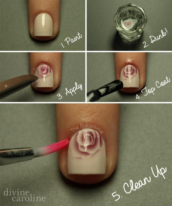 Water decals make this nail art super easy. You'll have gorgeous nails in no time! #nailart #mani #manicure