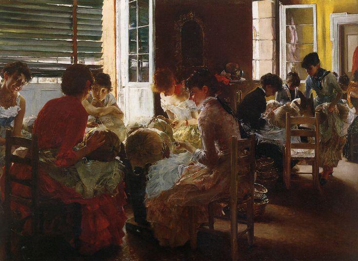 Robert Frederick Blum - Venetian Lace Workers - 1887