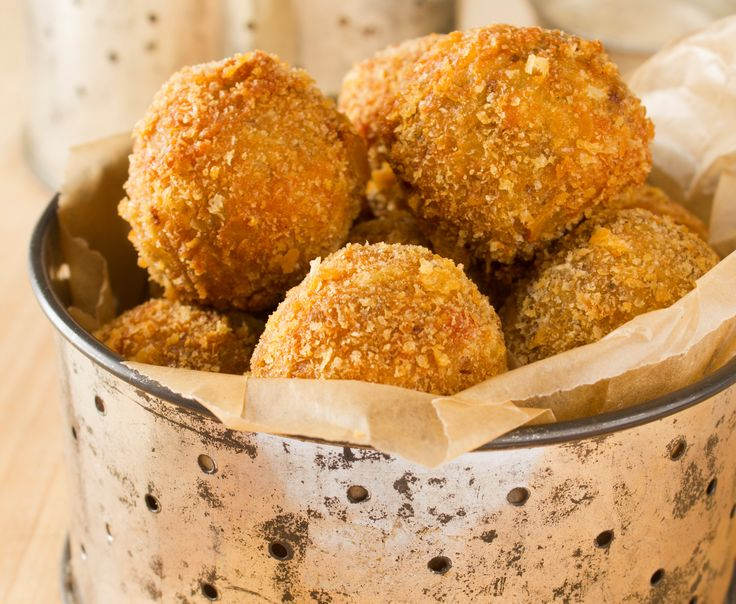 Boudin (pork and rice sausage) is a staple in Southeast Louisiana. During Mardi Gras, I like it roll it into balls and deep fry it. They make for a delicious, bite-sized snack that will keep you going all day. Boudin Balls with Creole Mustard Dipping Sauce
