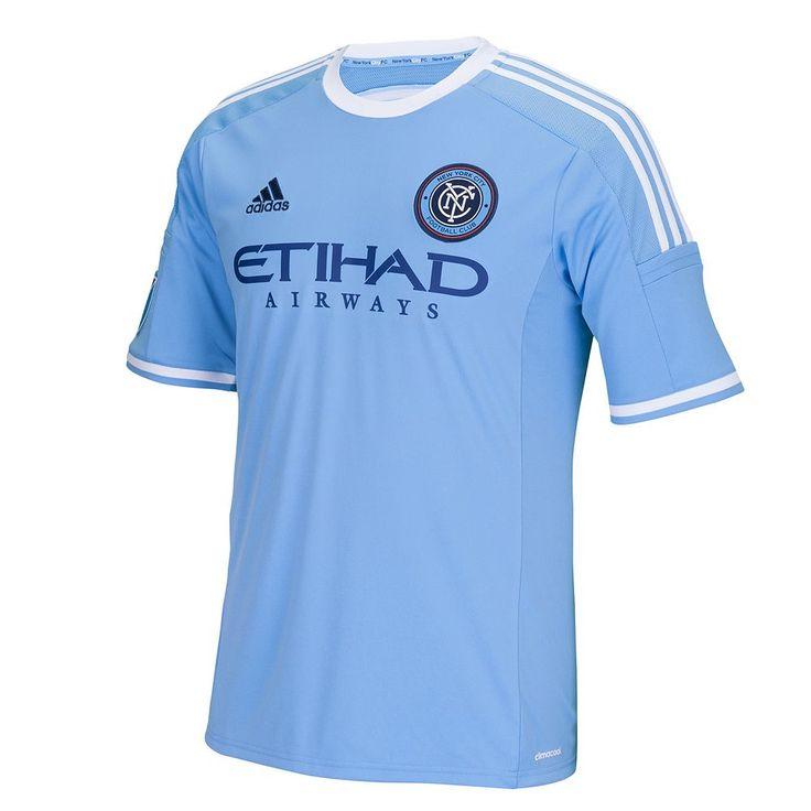 Adidas New York City FC Wordmark MLS Jersey - Men, Size: Large, Blue