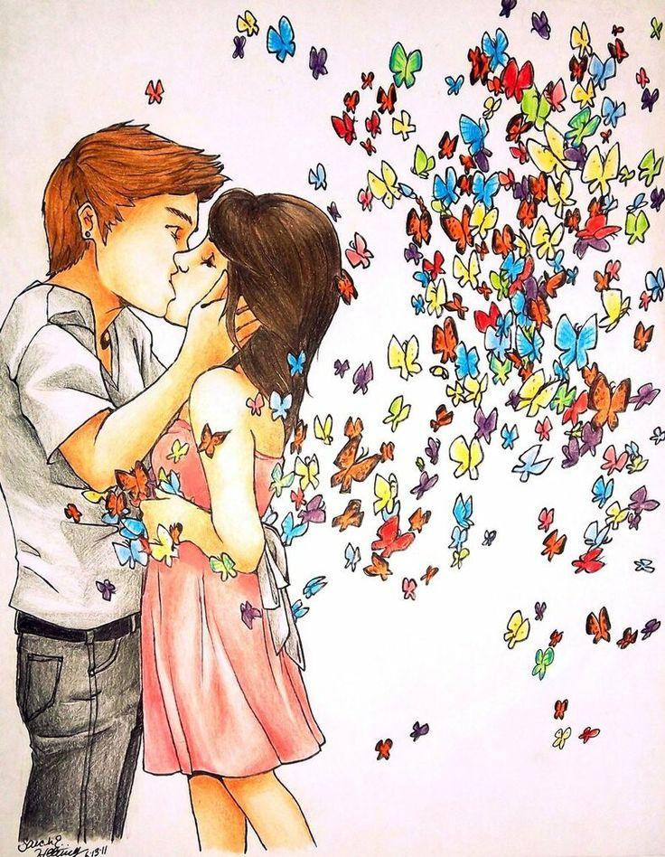 Картинка про любовь рисунок