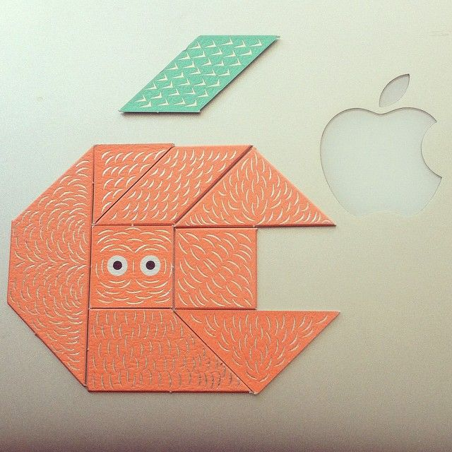 apple logo Tangram chan