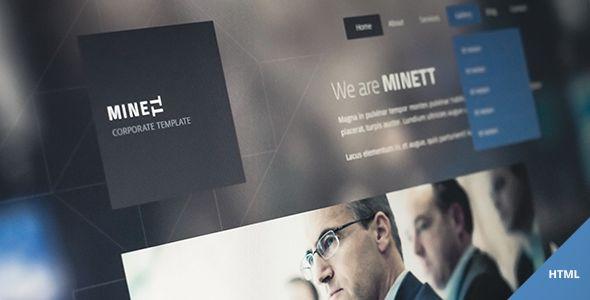 MINETT - responsive HTML template - ThemeForest Item for Sale