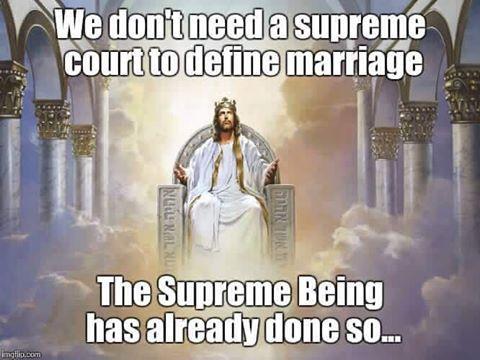 Jesus defines marriage.