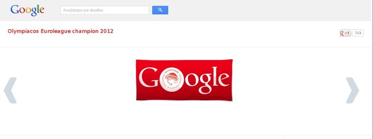 A Google Doodle for Olympiacos BC !