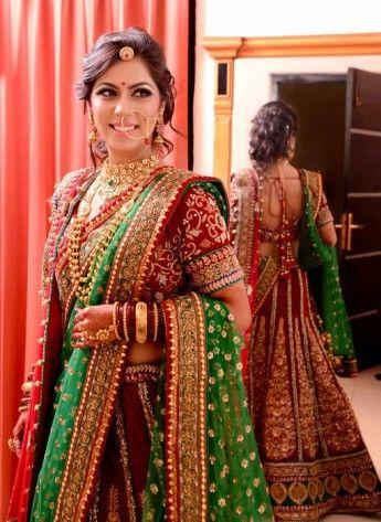 Red bridal lehenga – Frontier Bazar in Delhi